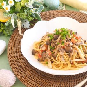 「料理リレー」料理家たちの簡単レシピ*サバ缶旨味三重奏パスタ