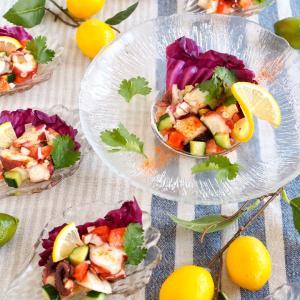 セビーチェ♪魚介と野菜のマリネ