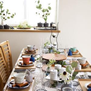 北欧風テーブルコーディネートとリンゴンベリーのドリンク♪