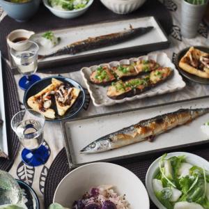 秋刀魚と紫芋♪秋のおうちごはん