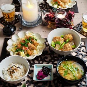 大根とつくねのこっくり煮♪和食の晩ごはん