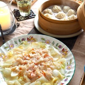 炒白海鮮♪海鮮と白菜の炒めもの 晩ごはん