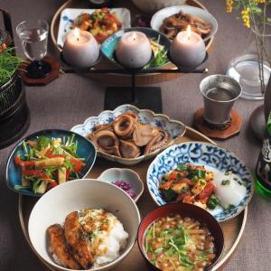 お盆で和食♪いわしの蒲焼とろろ丼&烏賊と里芋の煮物