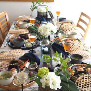 紫陽花テーブルでおもてなし♪