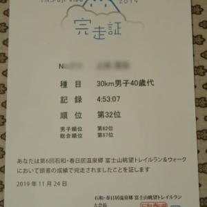 【遅報】石和・春日居温泉郷 富士山眺望トレイルラン