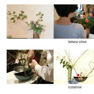 ある時はお花をエレガントに飾ったりダイナミックにお花を表現出来たり楽しく出来るいけばなレッスン