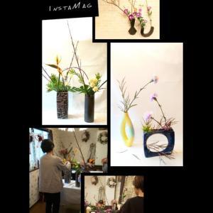 シンプルでモダンなお花を飾るいけばな
