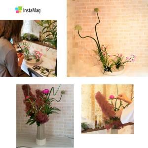 フレッシュなお花をダイナミックや大人可愛く飾れたり出来るいけばなレッスン