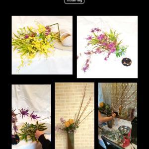 アート的なお花やスタンダードなお花を飾ったり出来る変化のあるいけばなレッスン