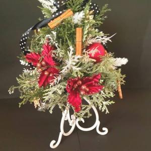 テーブルにも飾れるツリーアレンジメント~フラワーアレンジレッスン