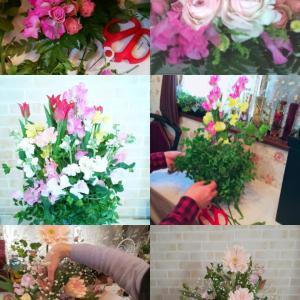 フワッと春のお花と香りが大人可愛いフラワーアレンジメントレッスン