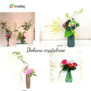 芍薬やバラをお花を空間に合わせてお花を飾るいけばな