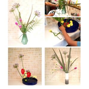 シックな色合いだけでなく鮮やかな色合わせのハイセンスなお花も生けられるいけばなの習い事