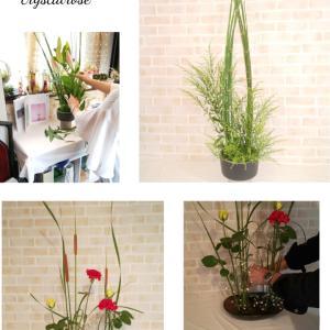 すっきりと凛としたお花を飾る研ぎ澄まされたお花のいけばな