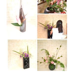 お花をカリキュラムに合わせてスタイリングして飾る~草月流いけばな教室