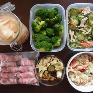 週末の常備菜作り(191020)