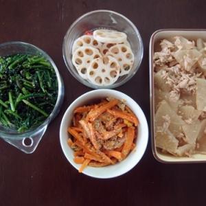 週末の常備菜作り(200113)