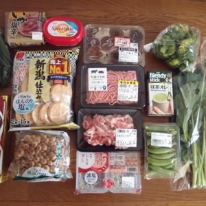 スーパーマーケット買い出し記録