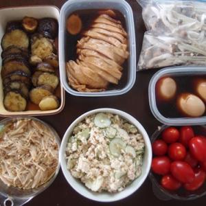 週末の常備菜づくり(210822)
