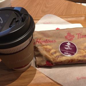 Tim's Coffee Houseで朝ごはん