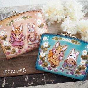 妖精のようなうさぎちゃんの二つ折り財布♪♪