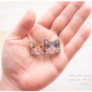 なつかしシリーズ♪小さな小さな猫ちゃんブローチ