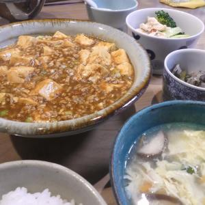 4/7 麻婆豆腐の晩ごはん