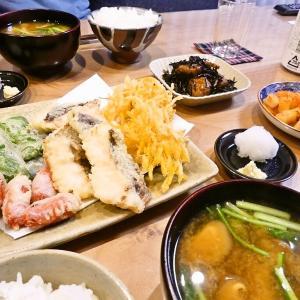 10/28 鯛めし弁当と天ぷらの晩ごはん