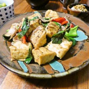 7/30 うなきゅう巻き弁当と厚揚げのバジル炒めの晩ごはん