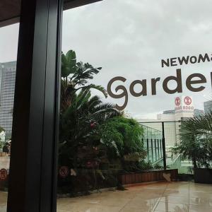天候不良でうみそらデッキは閉鎖中なので、ニュウマンガーデンで我慢します。