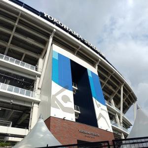 東京オリンピック開催に向け、準備が進む横浜スタジアム周辺。