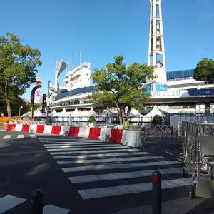 東京オリンピック2020開幕、横浜スタジアム及び横浜公園は封鎖されました。