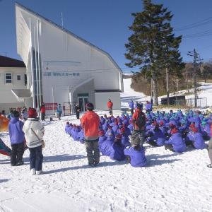 静岡県御前崎中学校のスキー交流