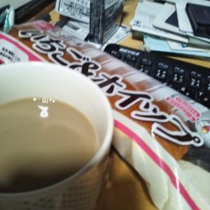 いちごホイップクリームパン。コーヒー牛乳
