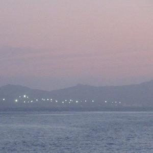 名護湾の夕暮れ