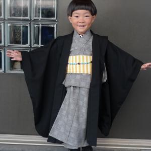 gle縞コーディネイトで五歳のお祝い♡ 七五三参りへ~♪