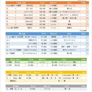 2020秋冬gle縞新作オーダーシート大公開!!!! 見てーー♡