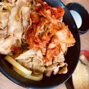 キムチすた丼◎伝説のすた丼屋
