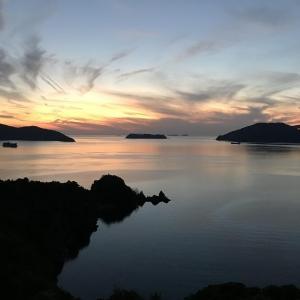 笠戸島の夕焼