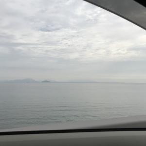 通津沖の海