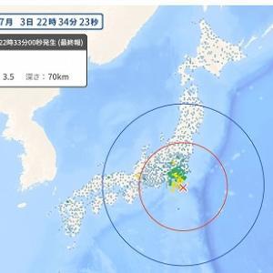 小さな地震