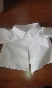 ウェルカムダッフィーちゃんを作る…ワイシャツの完成