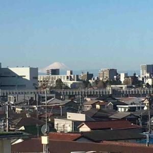富士山とモノレール