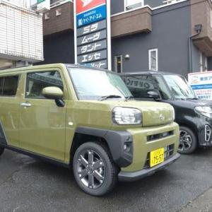 DAIHATSUの新型SUV「タフト」が届きました!7557ナンバーで到着!