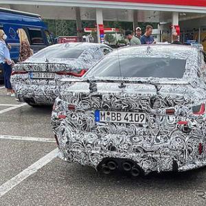 【BMW】レクサス風のエキゾーストを装備した謎の「M4」はレーシング志向のGTSか!?