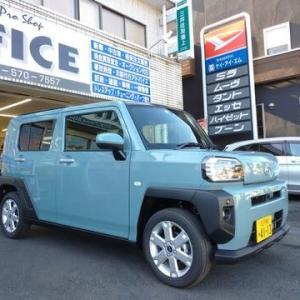 ダイハツ東京から届きました新車「TAFT」は東京アライアンスの社用車として前島が使用!