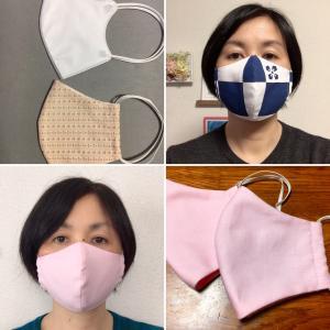 布マスク…チクチク手縫いで作りましたとさ