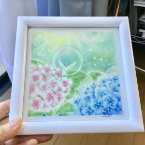 紫陽花のパステルアートはお嫁に…