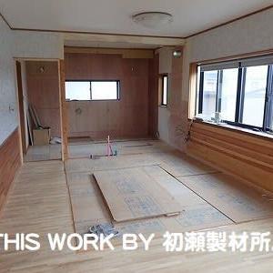 H様邸LDKリフォーム工事(いわき市常磐) ~システムキッチン段取り工事完了~