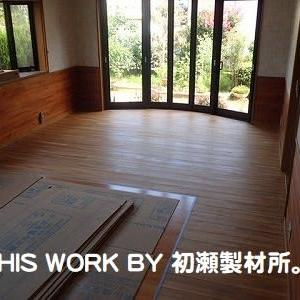 H様邸LDKリフォーム工事(いわき市常磐) ~床フロア等下塗り工事~